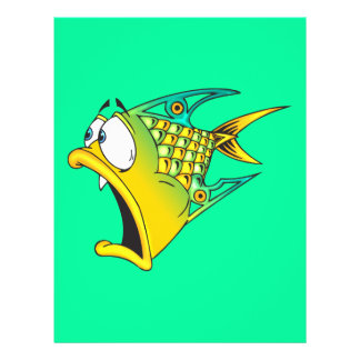 Frightened Fish 21.5 Cm X 28 Cm Flyer
