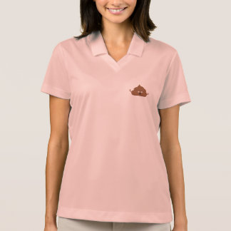 Frightened poo polo shirt