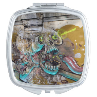 Frightened Skull Mirror For Makeup