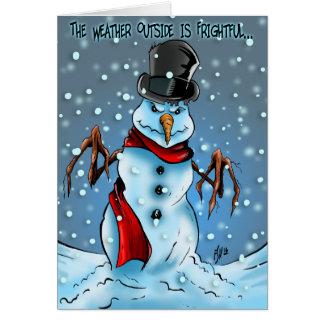 Frightful Snowman Card