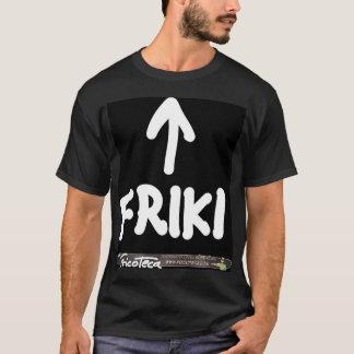 Friki white Text on black T-Shirt