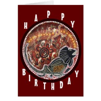 Frill Neck Lizard Dreaming Birthday Card