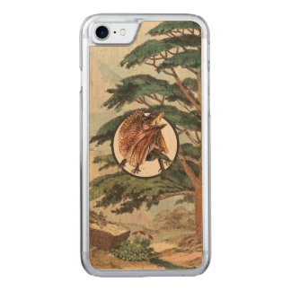 Frilled Lizard In Natural Habitat Illustration Carved iPhone 7 Case