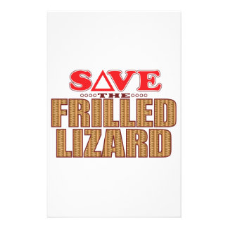 Frilled Lizard Save Stationery Paper