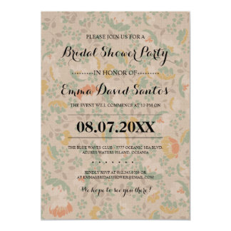 Frilly Floral Bridal Shower Invites
