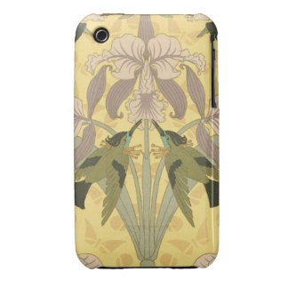 Frilly Lillies and Birds Case-Mate iPhone 3 Cases