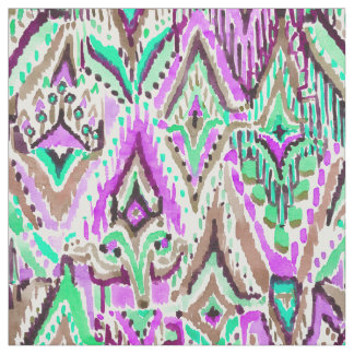 Fringe Ikat Watercolor Tribal Fabric