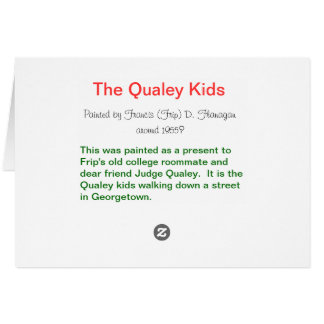 Frip's Qualey Kids painting Card