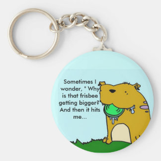 Frisbee dog key chain