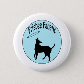 frisbee fanatic shirt 6 cm round badge