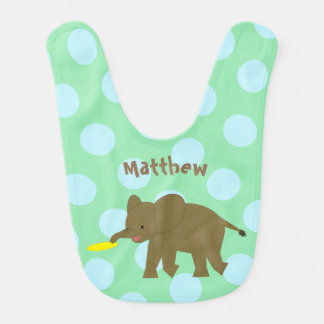 Frisbee Jungle Elephant Bib
