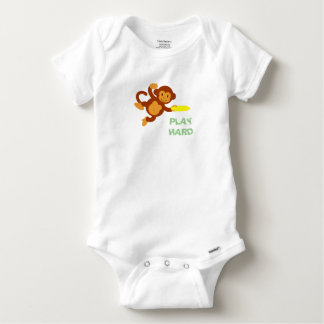 Frisbee Jungle Monkey Baby Bodysuit