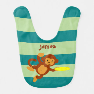 Frisbee Jungle Monkey Bib