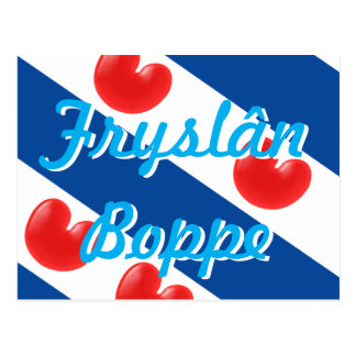 Frisian Flag customizable text Fryslan Boppe Postcard