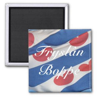 Frisian Flag (Fryslan Boppe) Fridge Magnet