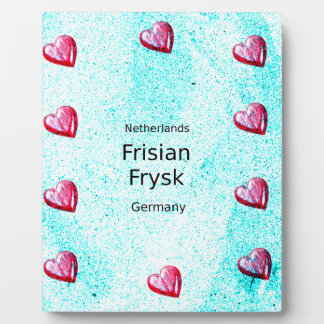 Frisian Language (Germany And Netherlands) Plaque