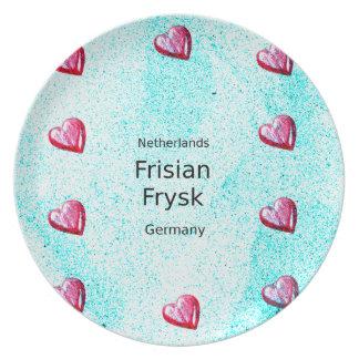 Frisian Language (Germany And Netherlands) Plate