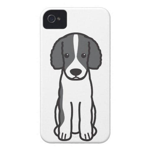 Frisian Water Dog Cartoon Case-Mate iPhone 4 Cases