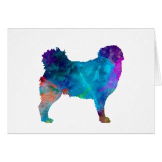 Frisian Water Dog in watercolor Card