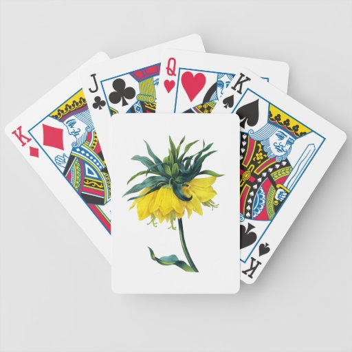 Fritillaire Imperiale ver Jaune By Pierre Joseph R Playing Cards