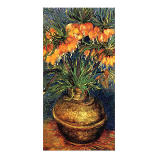 Fritillaries in a Copper Vase by Vincent van Gogh Personalized Photo Card