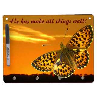 Fritillary and sunset dry erase whiteboards