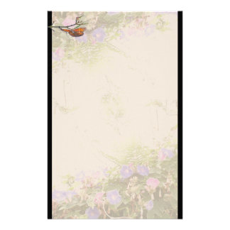 Fritillary Butterfly Flowers Floral Wildlife Customized Stationery