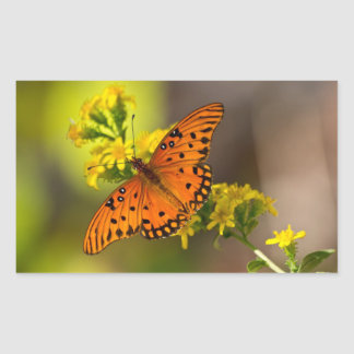 Fritillary Gulf Butterfly Gifts and Apparel Rectangular Sticker