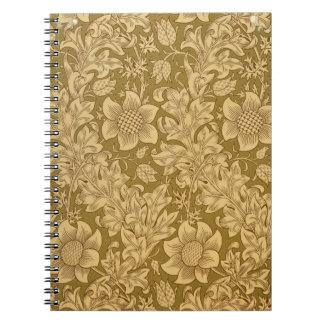 'Fritillary' wallpaper design, 1885 Notebook