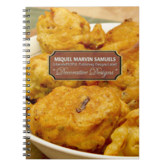 Fritters Decorative Modern Food Notebook