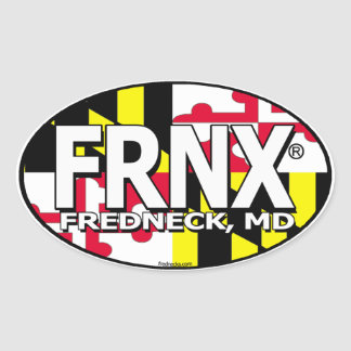 FRNX Maryland Flag Decal Oval Sticker