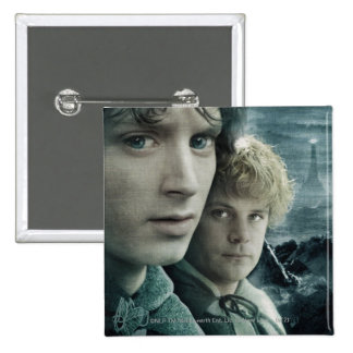 FRODO™ and Samwise Close Up 15 Cm Square Badge