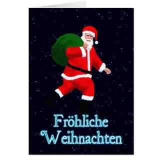Froehliche Weihnachten - Santa Claus Card
