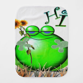 frog3hi burp cloth