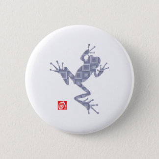 frog5 6 cm round badge