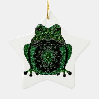 Frog 1 ceramic ornament