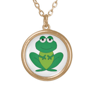 Frog 1 gold plated necklace