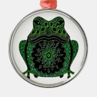 Frog 1 metal ornament