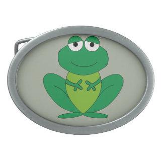 Frog 1 oval belt buckles