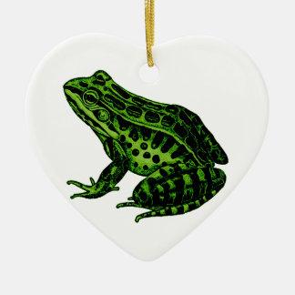 Frog 2 ceramic ornament