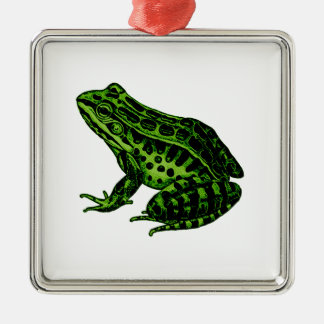 Frog 2 metal ornament