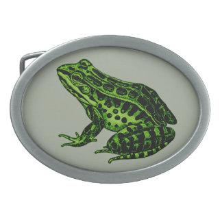 Frog 2 oval belt buckles