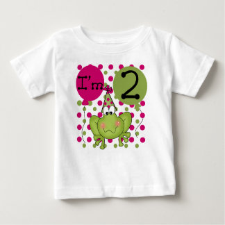 Frog 2nd Birthday Pink Baby T-Shirt