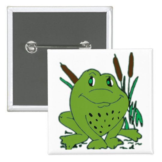 Frog 3 15 cm square badge