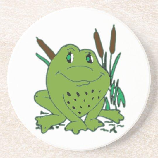 Frog 3 beverage coasters