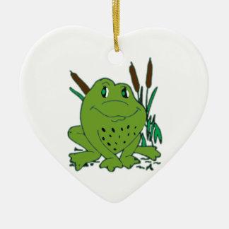 Frog 3 ceramic ornament