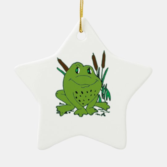 Frog 3 ceramic star decoration
