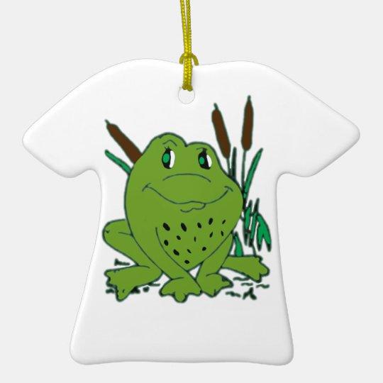 Frog 3 ceramic T-Shirt decoration