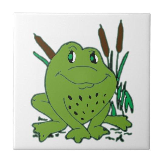 Frog 3 ceramic tile