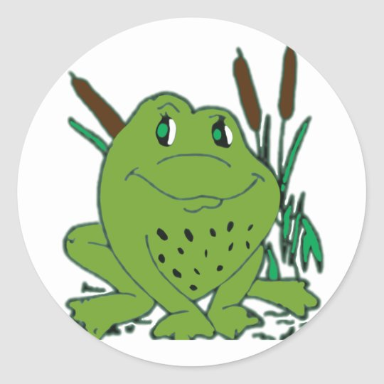 Frog 3 classic round sticker
